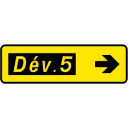 Paneau voierie temporaire présignalisation courante KD43a-2
