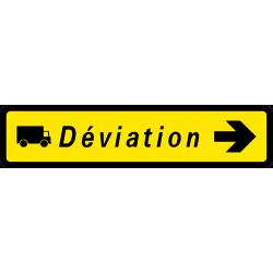 Paneau voierie temporaire présignalisation courante KD43b