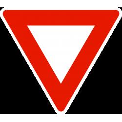 Panneau cédez le passage à l'intersection AB3A