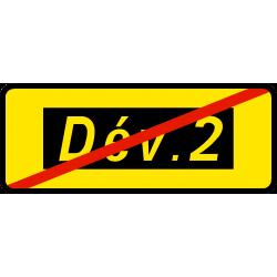 Paneau voierie temporaire confirmation de déviation KD69a