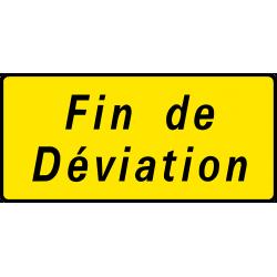 Paneau voierie temporaire confirmation de déviation KD69b