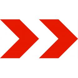 Balisage temporaire position d'une déviation ou d'un rétrécissement temporaire de chaussée K8-2