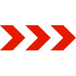 Balisage temporaire position d'une déviation ou d'un rétrécissement temporaire de chaussée K8-3