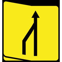 Paneau voierie temporaire réduction nombre des voies KD10-V