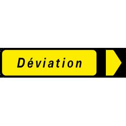 Paneau voierie temporaire déviation KD22 Dev GD