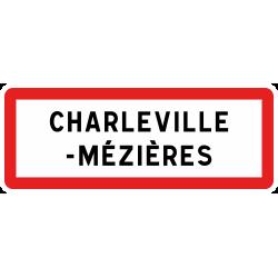 Panneau de localisation d'entrée agglomération EB10-2