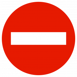 Panneau d'interdictionsens interdit à tout véhicule B1