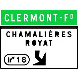 Panneau de avancée d'affectation de voies de sortie numérotée Da31d