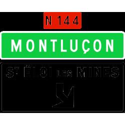 Panneau de avancée d'affectation de voies de sortie non numérotée Da31e