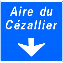 Panneau de avancée d'affectation de voie d'aire sur autoroute Da32b