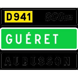 Panneau de présignalisation sortie non numérotée D41b