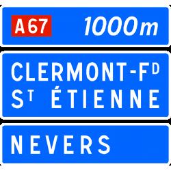 Panneau de présignalisation bifurcation autoroutière D41c