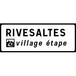 Panneau de présignalisation 20 km village étape D45