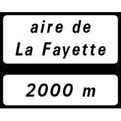 Panneau de présignalisationaire de service repos sur route à chaussées séparées D46b