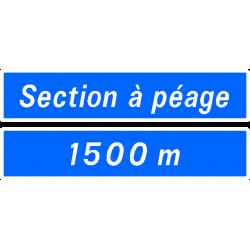 Panneau de présignalisation section routière ou autoroutière D47a