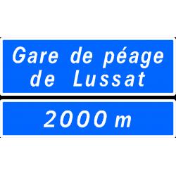 Panneau de présignalisation gare de péage D47b