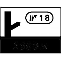 Panneau d'avertissement sortie simple D51c