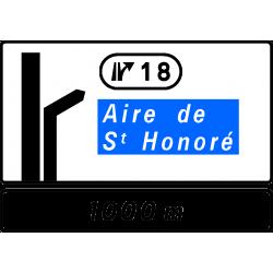 Panneau d'avertissement avec affectation de voies Da51br