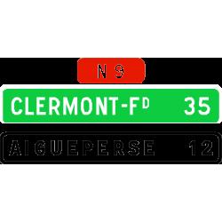 Panneau de confirmation courante utilisé sur route D61a