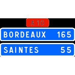 Panneau de confirmation courante utilisé sur autoroute D61b