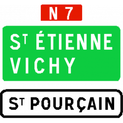 Panneau de confirmation de filante utilisé sur route à chaussées séparées D62a