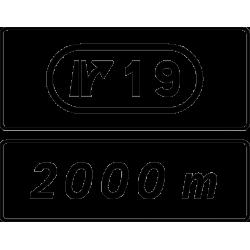 Panneau complémentaire de sortie D73
