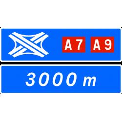 Panneau complémentaire de bifurcation D74a