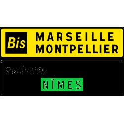 """Panneau complémentaire complémentaire d'itinéraire """" Bis"""" D79b"""