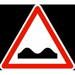Panneau de danger cassis ou dos-dâne A2A