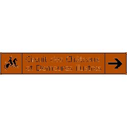 Panneau itinéraires touristiques H22