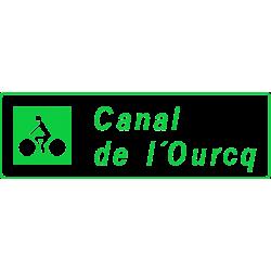Panneau d'identification itinéraire cyclable Dv12