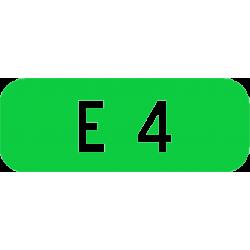 Cartouches à fond vert E41