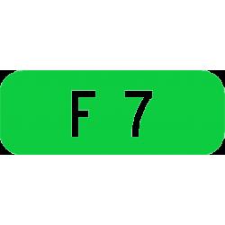 Cartouches à fond vert E45