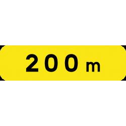 Panonceau indication de distance KM1