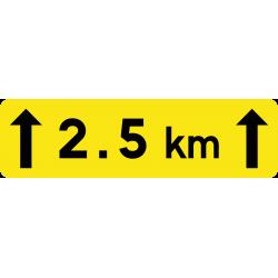 Panonceau indication d'étendue KM2
