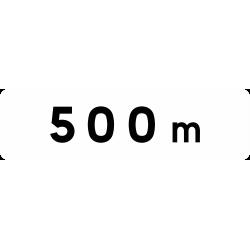 Panonceau indique la longueur M1