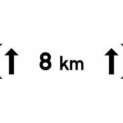 Panonceau indique la longueur M2