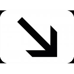 Panonceau indique la position de la voie M3a1