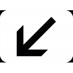Panonceau indique la position de la voie M3a2