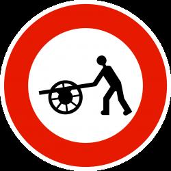 Panneau d'interdictionaccès interdit aux voitures à bras B9E
