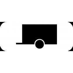 Panonceau véhicules tractant une remorque M4w