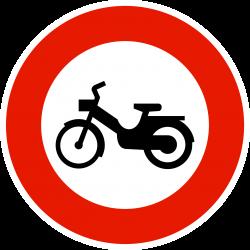 Panneau d'interdictionaccès interdit aux cyclomoteurs B9g