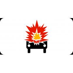 Panonceau véhicules transportant marchandises explosives inflammables M4k