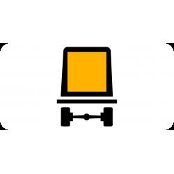 Panonceau véhicules transportant des marchandises dangereuses M4m