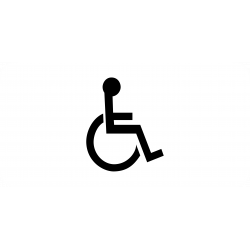 Panonceau installations aménagés pour handicapés physiques M4n