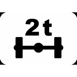 Panonceau véhicules pesant sur un essieu M4r