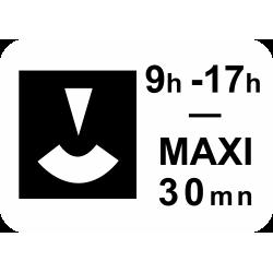 Panonceau durée maximum du stationnement M6c1