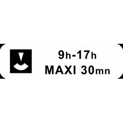 Panonceau durée maximum du stationnement M6c2