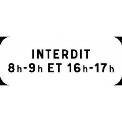 Panonceau précisions d'interdiction M6f1
