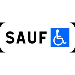 Panonceau stationnement personnes handicapées M6h